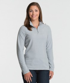 Charles River Apparel 5676 Women's Basin Fleece Long Sleeve Shirt Ash Grey