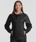 Charles River Apparel 5680 Women's Watertown Nylon Full-Zip Jacket Black