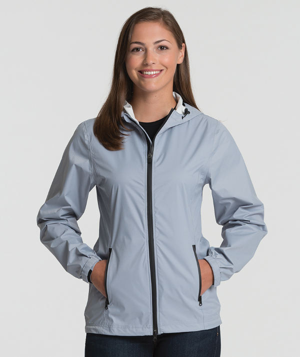 Charles River Apparel 5680 Women's Watertown Nylon Full-Zip Jacket Cloud