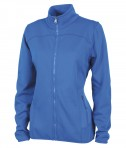 Charles River Apparel 5683 Women's Waypoint Birdseye Fleece Jacket Cobalt Full View