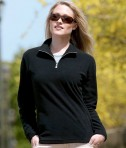 Charles River Apparel 5870 Women's Freeport Microfleece Pullover Sweater Black/Grey Model