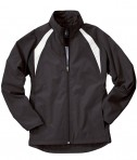 Charles River Apparel 5954 Women's TeamPro Polyester Jacket - Black/White
