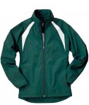 Charles River Apparel 5954 Women's TeamPro Polyester Jacket - Forest/White