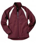 Charles River Apparel 5954 Women's TeamPro Polyester Jacket - Maroon/White
