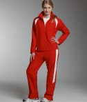 Charles River Apparel 5954 Women's TeamPro Polyester Jacket - Red/White Model