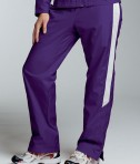 Charles River Apparel 5958 Womens TeamPro Athletic Pants Purple White
