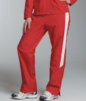 Charles River Apparel 5958 Womens TeamPro Athletic Pants Red White