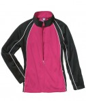 Charles River Apparel 5984 Womens Olympian Jacket Fuchsia Black White