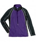 Charles River Apparel 5984 Womens Olympian Jacket Purple Black White