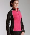Charles River Apparel 5984 Womens Olympian Jacket Red Black White Model