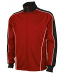 Charles River Apparel 8673 Youth Rev Team Jacket New Red Black Full View