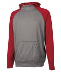 Charles River Apparel 8690 Youth Field Long Sleeve Sweatshirt Red Heather Full View