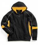 Charles River Apparel 9052 Mens Victory Hooded Sweatshirt Black Gold White