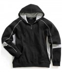 Charles River Apparel 9052 Mens Victory Hooded Sweatshirt Black Grey White