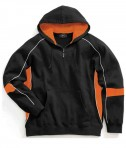 Charles River Apparel 9052 Mens Victory Hooded Sweatshirt Black Orange White