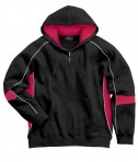 Charles River Apparel 9052 Mens Victory Hooded Sweatshirt Black Red White