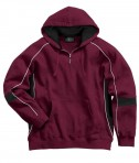 Charles River Apparel 9052 Mens Victory Hooded Sweatshirt Maroon Black White