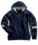 Charles River Apparel 9052 Mens Victory Hooded Sweatshirt Navy Grey White