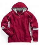 Charles River Apparel 9052 Mens Victory Hooded Sweatshirt Red Grey White
