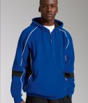 Charles River Apparel 9052 Mens Victory Hooded Sweatshirt Royal Black White