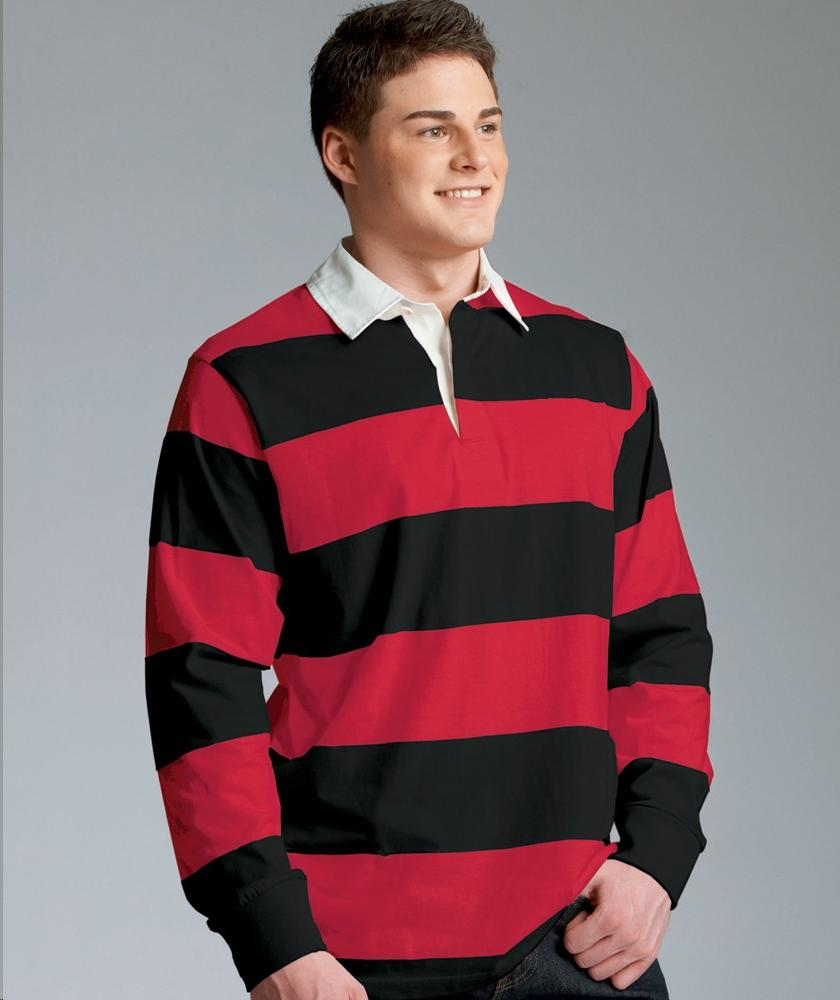 Charles river apparel style 9278 classic rugby shirt for Big and tall polo rugby shirts