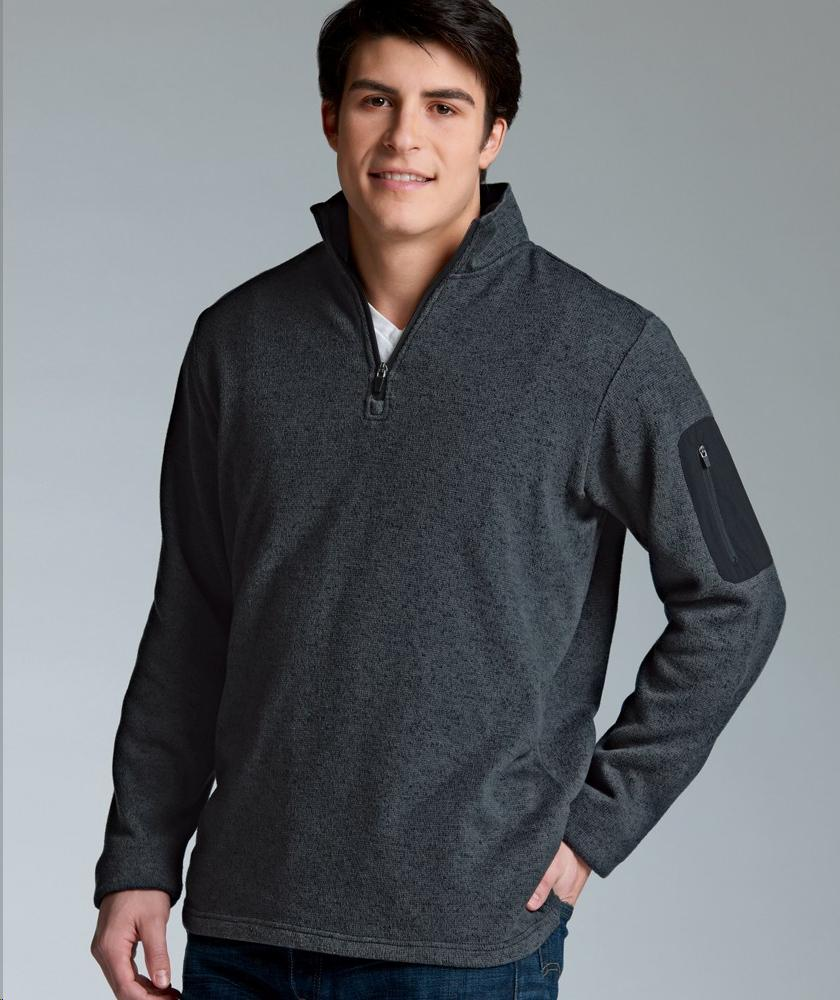 Charles River Apparel Style 9312 Men's Heathered Fleece Pullover 1