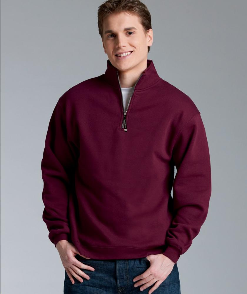 Charles River Apparel Mens Crosswind Quarter Zip Sweatshirt