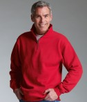 Charles River Apparel Style 9359 Crosswind Quarter Zip Sweatshirt Red Model