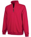 Charles River Apparel Style 9359 Crosswind Quarter Zip Sweatshirt Red