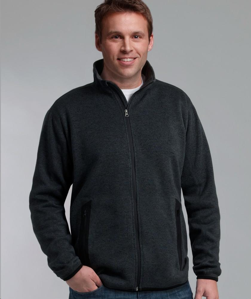 Charles River Apparel Style 9493 Men's Heathered Fleece Jacket 1