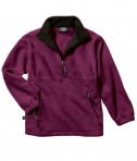 Charles River Apparel 9510 Men's Adirondack Fleece Pullover Sweatshirt - Maroon/Black