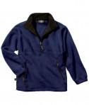 Charles River Apparel 9510 Men's Adirondack Fleece Pullover Sweatshirt - Navy/Black