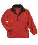 Charles River Apparel 9510 Men's Adirondack Fleece Pullover Sweatshirt - Red/Black