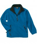Charles River Apparel 9510 Men's Adirondack Fleece Pullover Sweatshirt - Royal/Black