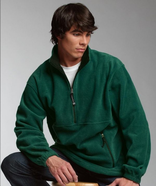Charles River Apparel Style 9501 Adirondack Fleece Pullover - Forest/Black