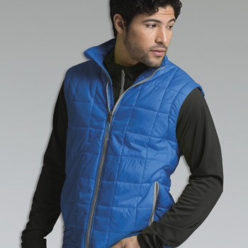 Charles River Apparel 9535 Men's Radius Quilted Vest Cobalt Grey