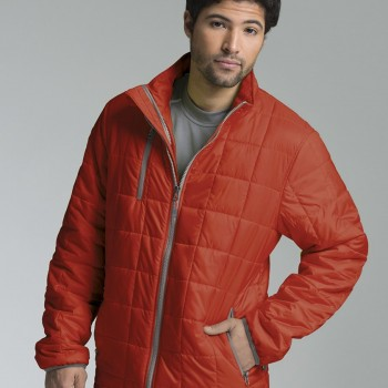 Charles River Apparel 9540 Men's Lithium Quilted Jacket Burnt Orange Grey