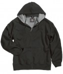 Charles River Apparel 9542 Tradesman Full Zip Heavy Duty Sweatshirt - Black