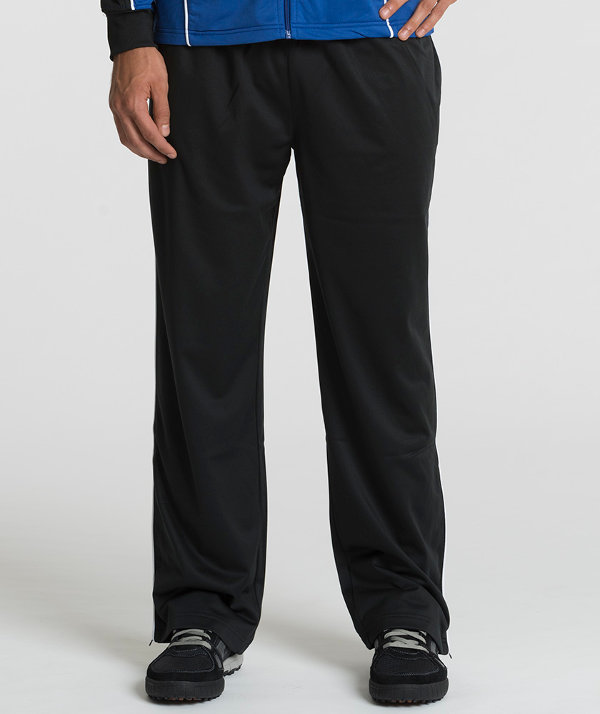 Charles River Apparel 9661 Men's Rev Polyester Athletic Pants – Black