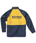 Charles River Apparel 9672 Men's Rival Jacket - Navy/Gold Decorated Rear
