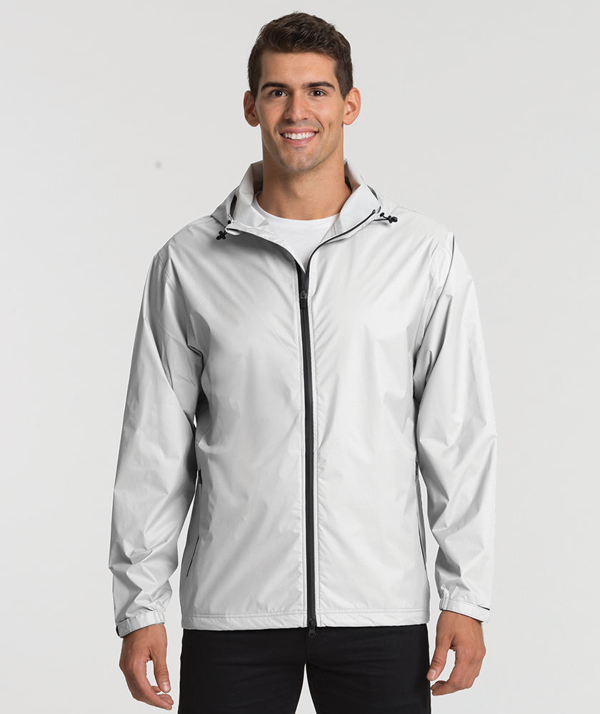 Charles Rive Apparl 9680 Men's Watertown Nylon Full-Zip Jacket White
