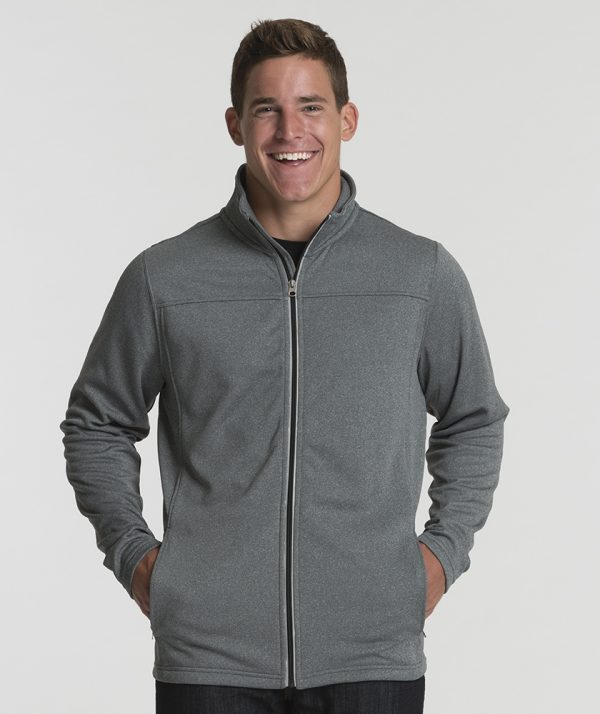 Charles River Apparel 9682 Men's Cambridge Jacket Heather Grey