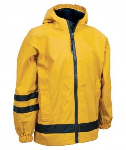 Charles River Apparel 7099 Children's New Englander Rain Jacket - Yellow/Navy