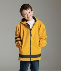Charles River Apparel 7099 Children's New Englander Rain Jacket - Yellow/Navy Boy Model