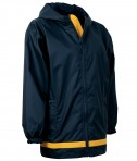 Charles River Apparel Style 8099 Youth New Englander Rain Jacket - True Navy/Yellow