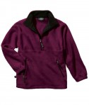 Charles River Apparel Style 8501 Youth Adirondack Fleece Pullover - Maroon/Black