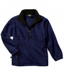 Charles River Apparel Style 8501 Youth Adirondack Fleece Pullover - Navy/Black