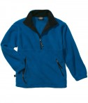 Charles River Apparel Style 8501 Youth Adirondack Fleece Pullover - Royal/Black