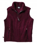 Charles River Apparel Style 8503 Youth Ridgeline Fleece Vest - Maroon/Black