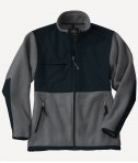Charles River Apparel Style 8931 Youth Evolux Fleece Jacket - Charcoal/Black